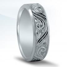 Engraved Men's Wedding Band N16607