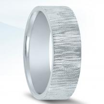 N17185 Wedding Band with Organic Finish