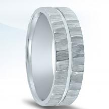 N17201 Wedding Band with Organic Finish