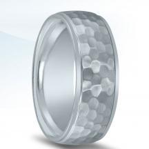 Hammered Cobalt Wedding Band N17333-8.5-CO