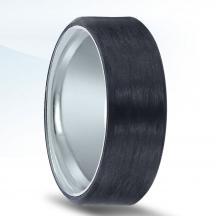Carbon Fiber and Cobalt Wedding Band N17338-8-CO