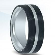 Carbon Fiber and Cobalt Wedding Band N17386-8-COCF