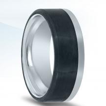 Carbon Fiber and Cobalt Wedding Band N17387-8-COCF
