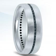 Novell Men's Black Diamond Wedding Band ND01987