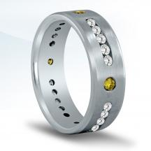 Diamond Wedding Band for Men - ND17005
