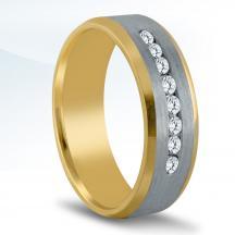 Men's Two-tone Diamond Wedding Band NTD16648
