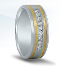 Men's Two-tone Diamond Wedding Band NTD16992