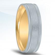 Men's Unique Inside Out Wedding Band - XNT16966