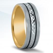 Men's Carved Wedding Band - XNT16981